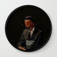 king Wall Clocks featuring King by Frank Moth