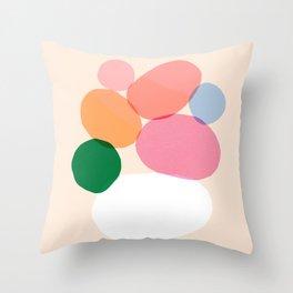 Abstraction_Pebbles_Balance_Minimalism_007 Throw Pillow