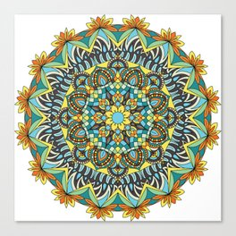 Mandala flower dreams Canvas Print