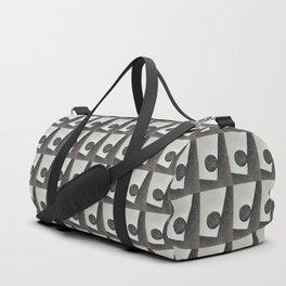 Black & White Water Coordinate Repeat Duffle Bag