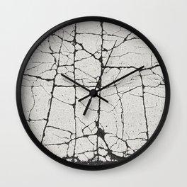 Cracked Crossing Wall Clock