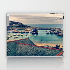 Grey Clouds Above The Ferocious Water  Laptop & iPad Skin