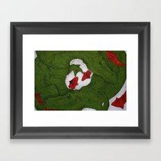 Underwater Crocs Framed Art Print