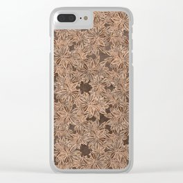 Star Anise Pattern Clear iPhone Case
