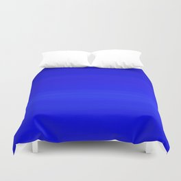 Solid Cobalt Blue - Brush Texture Duvet Cover
