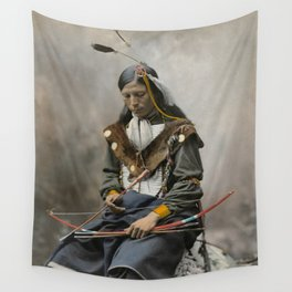 Bone Necklace Council Chief 1899 Wall Tapestry