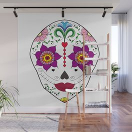 Mexican Sugar Skull Wall Mural