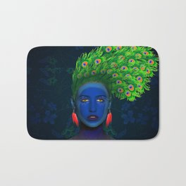 peacock girl Bath Mat