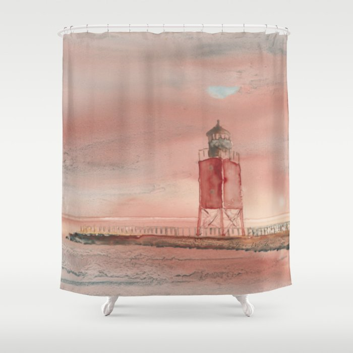 Charlevoix South Pierhead Shower Curtain