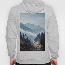 VALLEY - MOUNTAINS - TREES - RIVER - PHOTOGRAPHY - LANDSCAPE Hoody