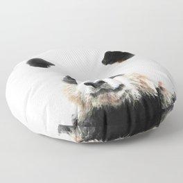 Panda Watercolor Panda Bear Portrait Floor Pillow