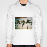 indonesia Hoodies featuring La Luciola palms, Bali, Indonesia  by Kim Barton