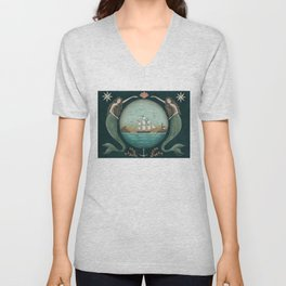 Sirens of the Sea by Donna Atkins Unisex V-Neck