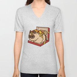 Pizza Cat Unisex V-Neck