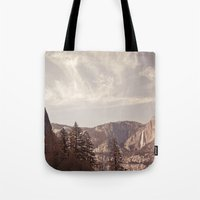 yosemite Tote Bags featuring yosemite by illustratographer