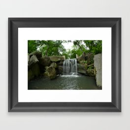 Central Park Waterfall Framed Art Print