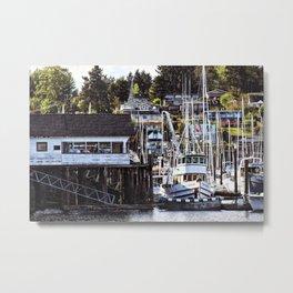 Boat Harbor Metal Print