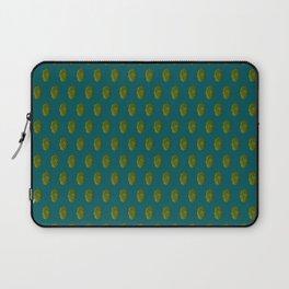 Hops Dark Cyan Pattern Laptop Sleeve