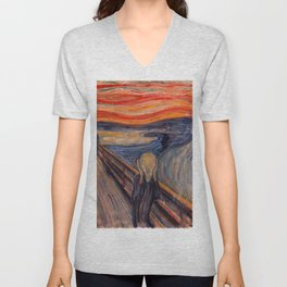 Edvard Munch - The Scream Unisex V-Neck