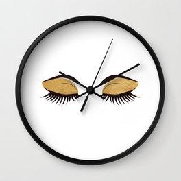 Glamorous Eyes Wall Clock