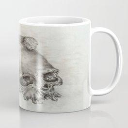 Human Skull with Lizard Coffee Mug