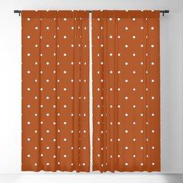 Minimalist Polka Dot Pattern (white/burnt orange) Blackout Curtain