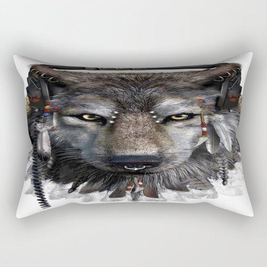 Wolf Pattern Rectangular Pillow
