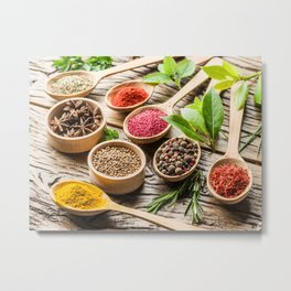 Various spices for a delicious dinner Metal Print