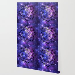 Mandala : Purple Blue Galaxy Wallpaper