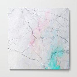 Marble overflow texture Metal Print