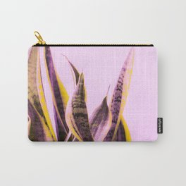 Long Leaves Plant On Pink Background #decor #society6 #buyart Carry-All Pouch