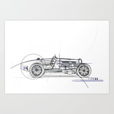 RennSport Speed Series: Type 51 Art Print