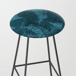 Ferns (light) abstract design Bar Stool