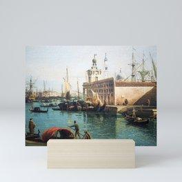 Bernardo Bellotto The Grand Canal from the Campo Santa Maria del Giglio with the Salute Mini Art Print