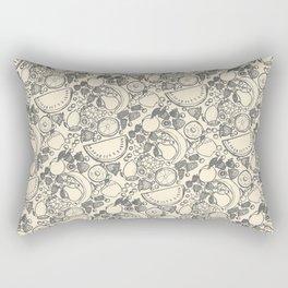 Fruit Print Vintage Rectangular Pillow