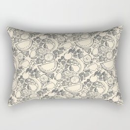 Fruit Print Vintage Rectangular Pillow