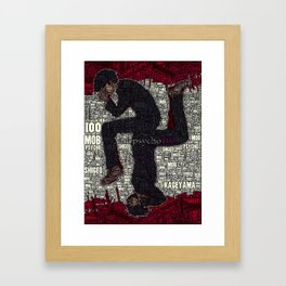 Kageyama Shigeo - Mob Psycho 100 Framed Art Print