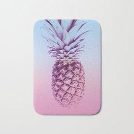 Light Blue and Pink Pineapple Bath Mat