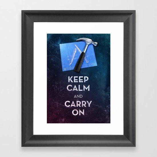Keep Calm Xcode Framed Art Print