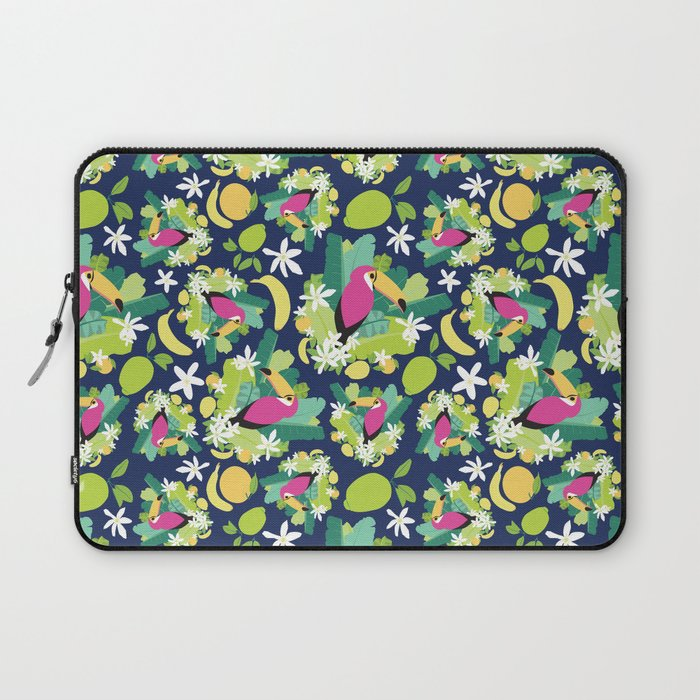 Toucans Everywhere - Blue Laptop Sleeve