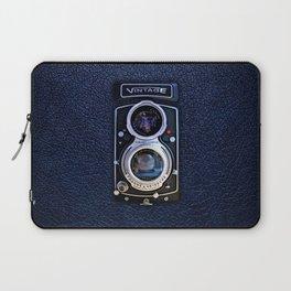 Black Retro Camera Laptop Sleeve