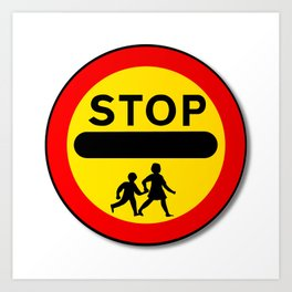 Stop Children Traffic Sign Art Print