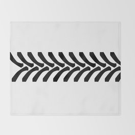 Tractor Tyre Tread Marks Throw Blanket
