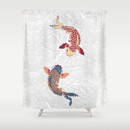 koi fish bold graphic Shower Curtain