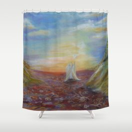 Valley of the Dry Bones Shower Curtain