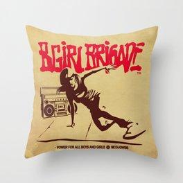 BGIRL BRIGADE Throw Pillow