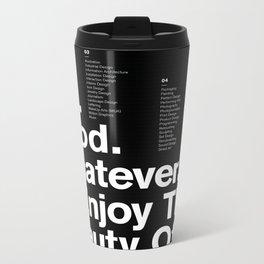 Always Create — Grid Series 01 (Black) Metal Travel Mug