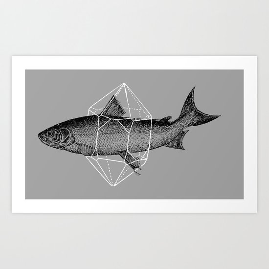 Fish In Geometrics Art Print