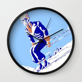 Downhill in the Alps Wall Clock