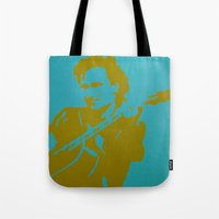 u2 Tote Bags featuring Bono - U2 by Tipsy Monkey